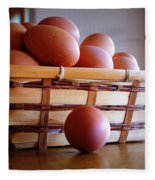 Almost All My Eggs In One Basket Fleece Blanket