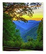 Almost Heaven - West Virginia 3 - Paint Fleece Blanket