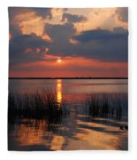 Almost Sunset In Florida Fleece Blanket