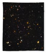 Almost Ten Thousand Galaxies As Seen By Hubble Fleece Blanket