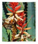Aloe Bloom Desert Garden Fleece Blanket