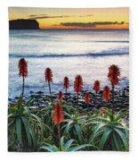 Aloe Vera In Flower At The Seaside Fleece Blanket