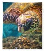 Aloha Honu Fleece Blanket