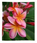 Aloha Lei Pua Melia Keanae Fleece Blanket