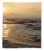 Aloha Oe Sunset Hookipa Beach Maui North Shore Hawaii Fleece Blanket