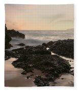 Aloha Paako Akahi Sunset Makena Maui Hawaii  Fleece Blanket