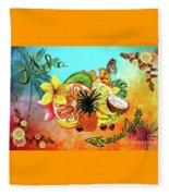 Aloha Tropical Fruits By Kaye Menner Fleece Blanket