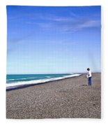 Alone And At Peace Fleece Blanket