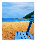 Alone And Blue Fleece Blanket