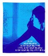 Alone In Blue Fleece Blanket