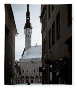 Alone In Tallinn Fleece Blanket