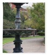 Alone In The Fountain Fleece Blanket