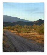 Along A Country Road Fleece Blanket
