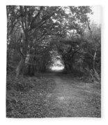 Along A Woodland Path Fleece Blanket