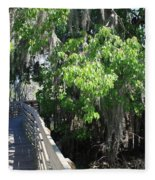 Along Florida Boardwalk Fleece Blanket