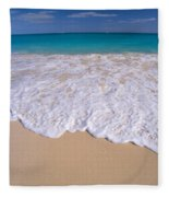 Along Shoreline Fleece Blanket