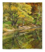 Along The C And O Canal Fleece Blanket
