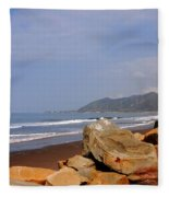 Along The Californian Coast Fleece Blanket