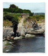 Along The Cliff Walk Trail Fleece Blanket