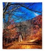 Along The Country Lane Fleece Blanket