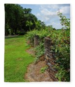 Along The Curved Wall Fleece Blanket