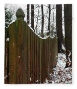 Along The Fence Fleece Blanket