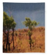 Along The Lake Fleece Blanket