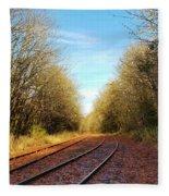 Along The Old Railroad  Fleece Blanket