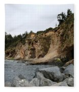 Along The Oregon Coast  Fleece Blanket