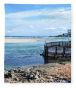 Along The Peaceful Shores  Fleece Blanket