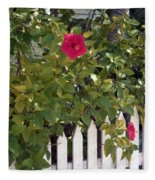 Along The Picket Fence Fleece Blanket
