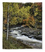 Along The Rural Road Fleece Blanket