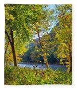 Along The Shenandoah River Fleece Blanket