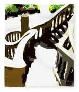 Along The Spiral Stairway Fleece Blanket
