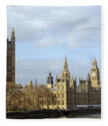 Along The Thames Fleece Blanket
