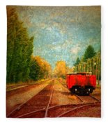 Along The Tracks Fleece Blanket