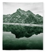 Along The Yen River Fleece Blanket