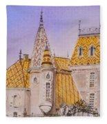 Aloxe Corton Chateau Jaune Fleece Blanket