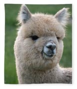 Alpaca Smile Fleece Blanket
