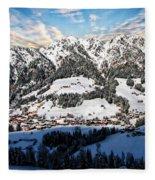 Alpbach Winter Landscape Fleece Blanket