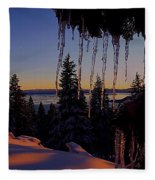 Alpenglow Claws Fleece Blanket