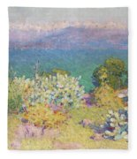 Alpes Maritimes From Antibes Fleece Blanket