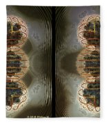 Alpha Waves - Gently Cross Your Eyes And Focus On The Middle Image Fleece Blanket