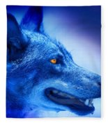 Alpha Wolf Fleece Blanket