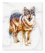 Alpha Wolf Fleece Blanket