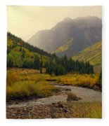 Alpine Loop Fall Fleece Blanket