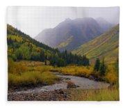 Alpine Loop Road Fleece Blanket