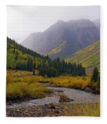 Alpine Loop Road Fleece Blanket