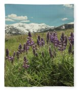 Alpine Spring Fleece Blanket