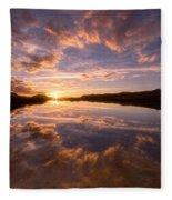 Alpine Sunset Fleece Blanket